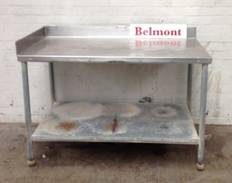 Stainless Steel Table with Bottom Shelf - Product Code T1