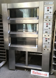Tom Chandley 3 Deck 12 Tray High Crown Oven with Glass Doors - DO05